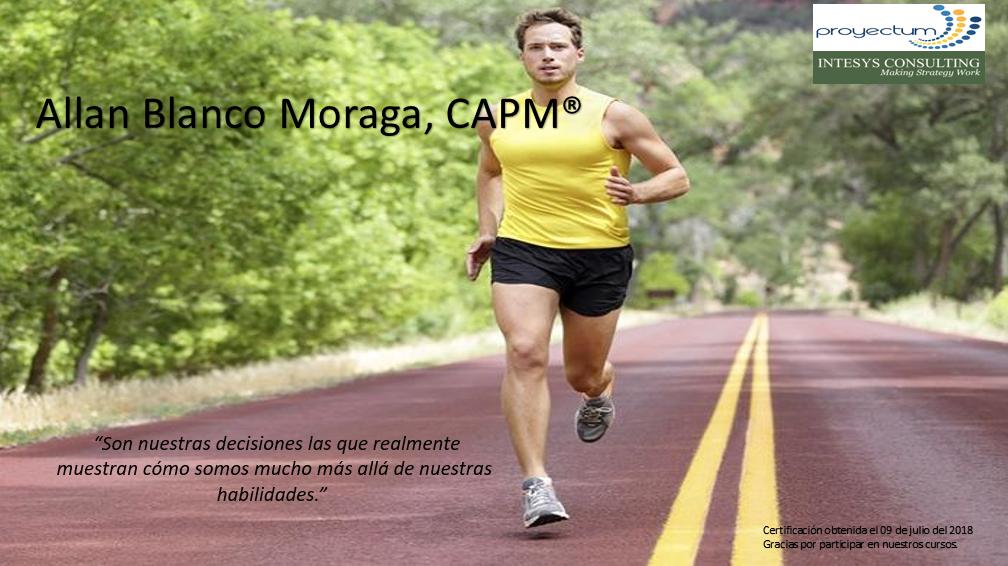 Allan Blanco Moraga, CAPM®