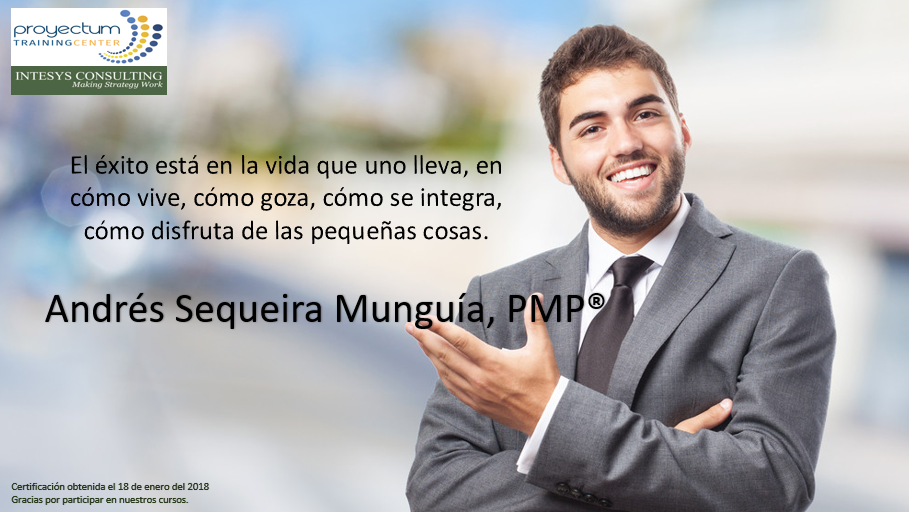 Andrés Sequeira Munguía, PMP®