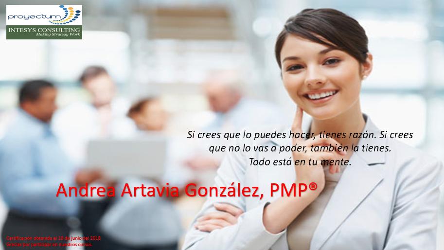 Andrea Artavia González, PMP®