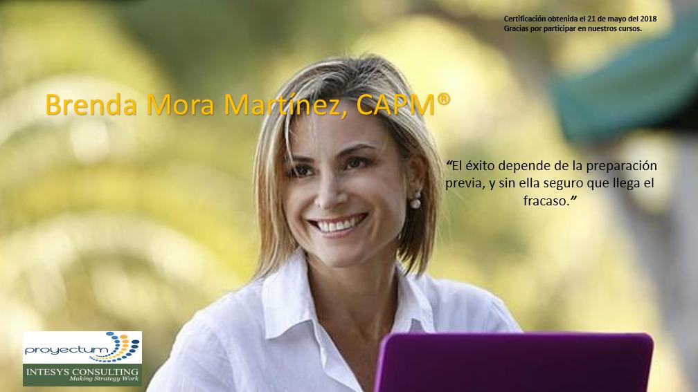 2019 Brenda Mora Martínez, CAPM®