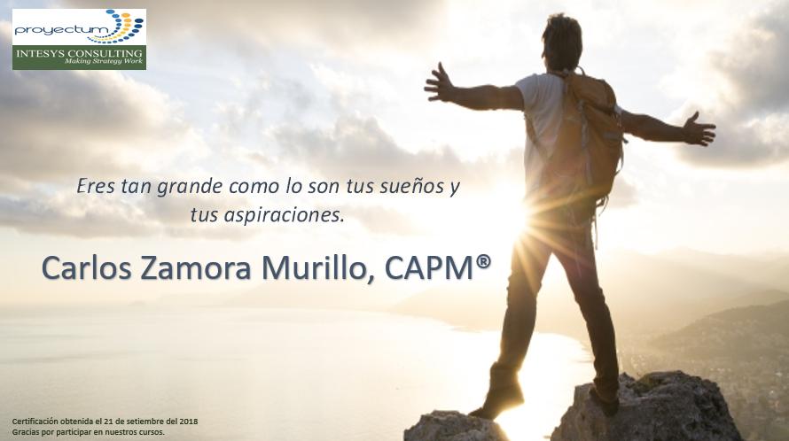Carlos Zamora Murillo, CAPM®