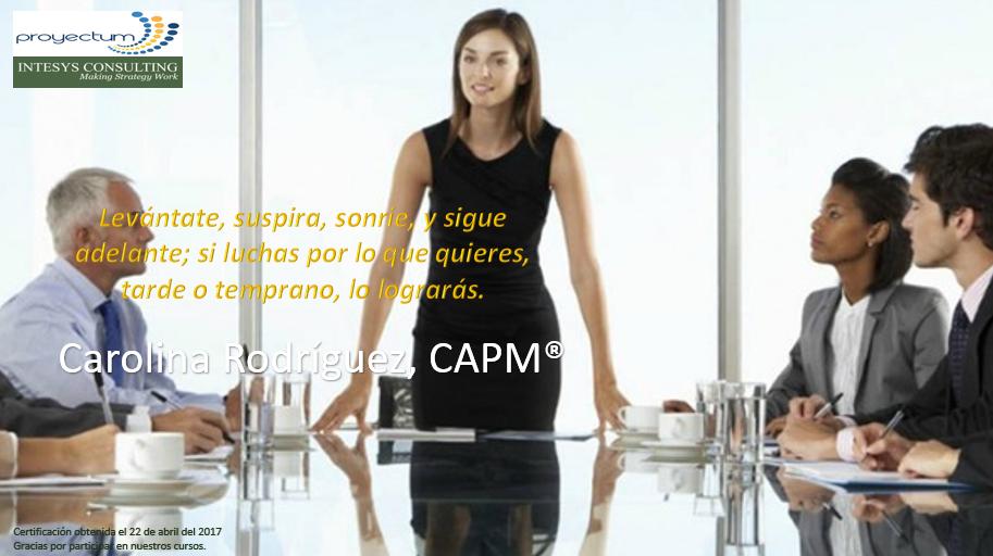 Carolina Rodríguez, CAPM®
