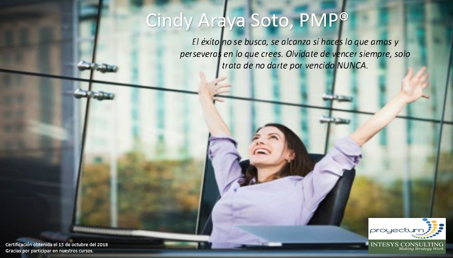 Cindy Araya Soto, PMP®