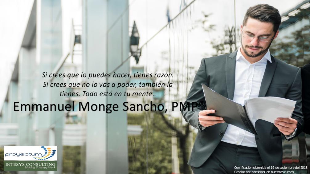 Emmanuel Monge Sancho, PMP®