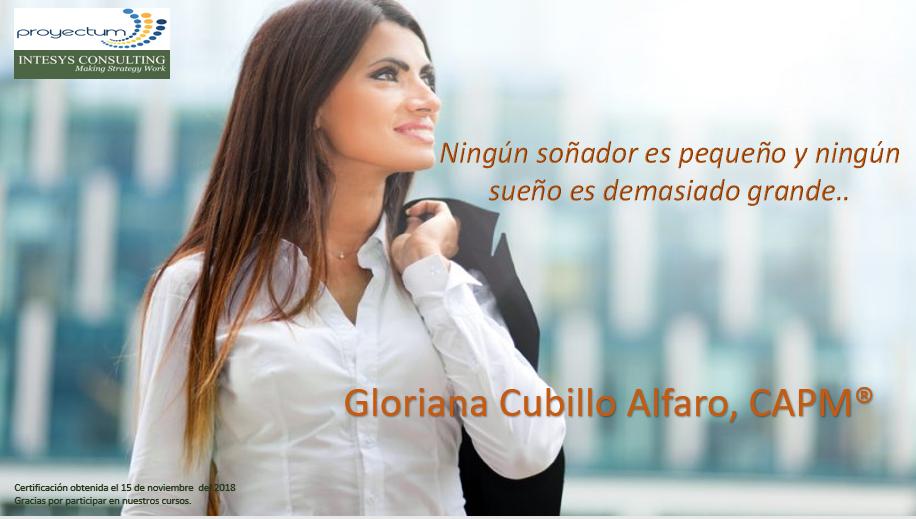 Gloriana Cubillo Alfaro, CAPM®