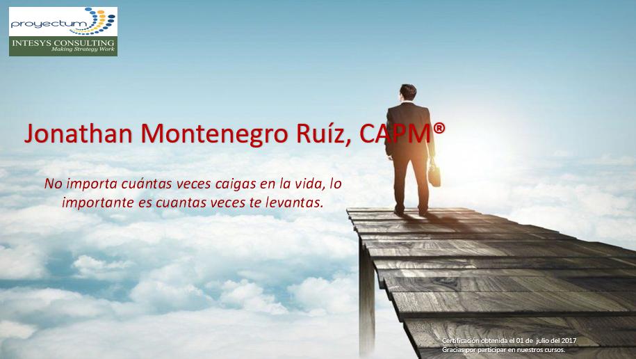 Jonathan Montenegro Ruíz, PMP®