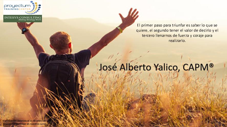José Alberto Yalico, CAPM®