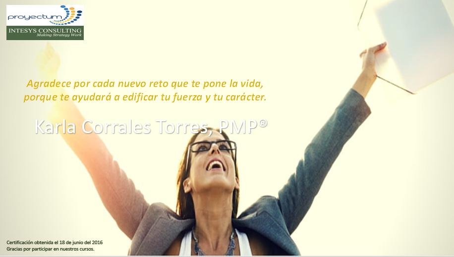 Karla Corrales Torres, PMP®