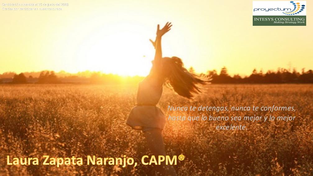 Laura Zapata Naranjo, CAPM®