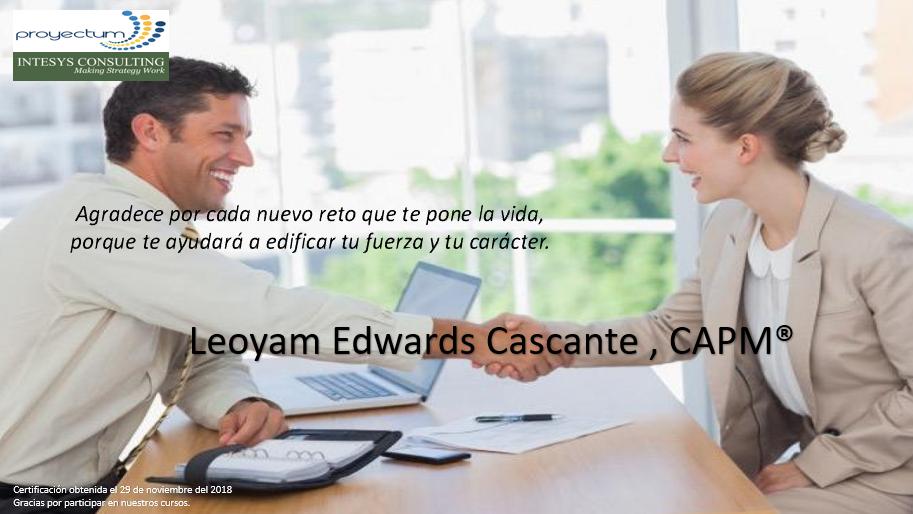 Leoyam Edwards Cascante , CAPM®