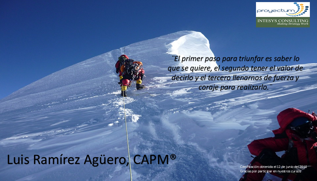 Luis Ramírez Agüero, CAPM®