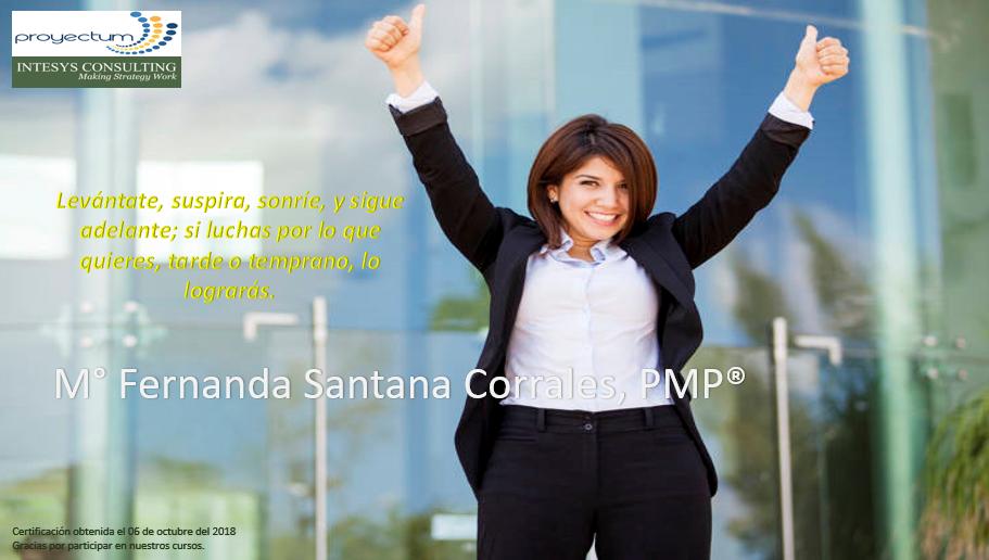 M° Fernanda Santana Corrales, PMP®