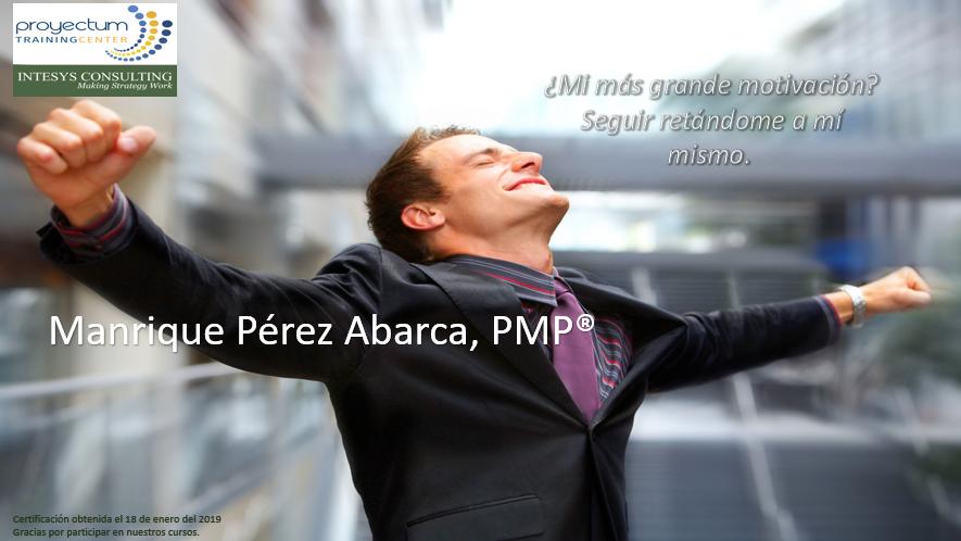 Manrique Pérez Abarca, PMP®