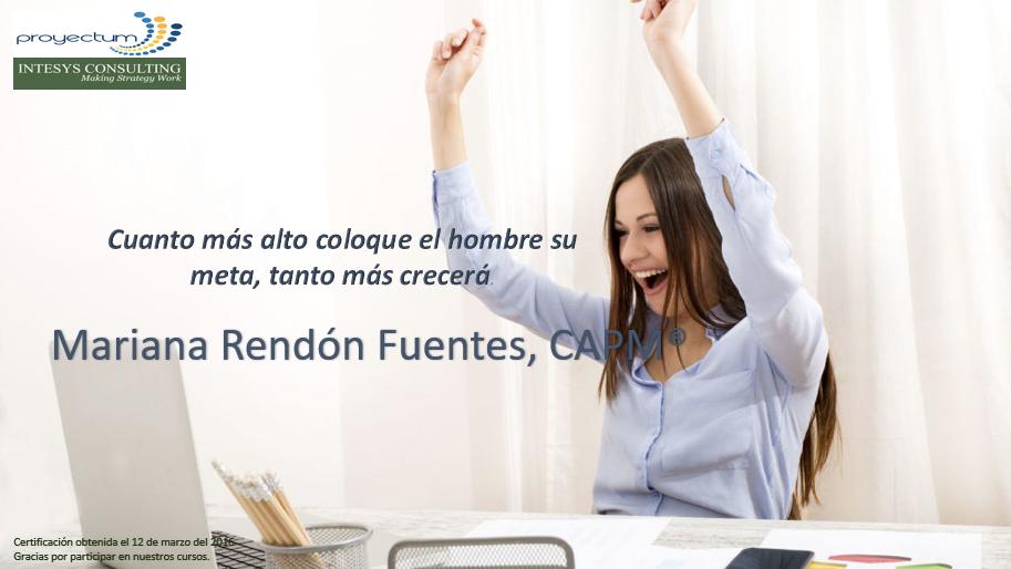 Mariana Rendón Fuentes, CAPM®