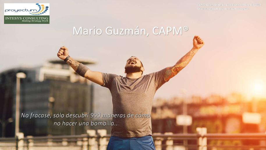 Mario Guzmán, CAPM®