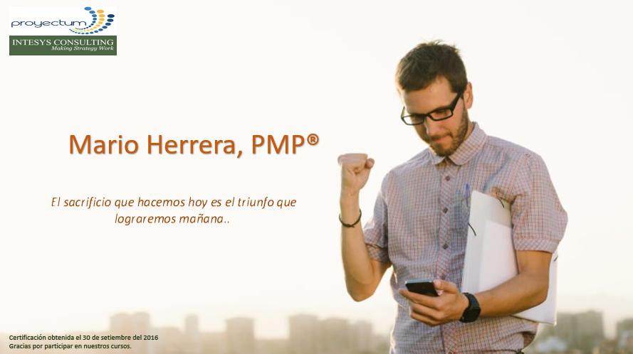 Mario Herrera, PMP®