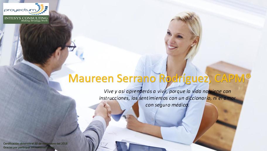 Maureen Serrano Rodríguez, CAPM®