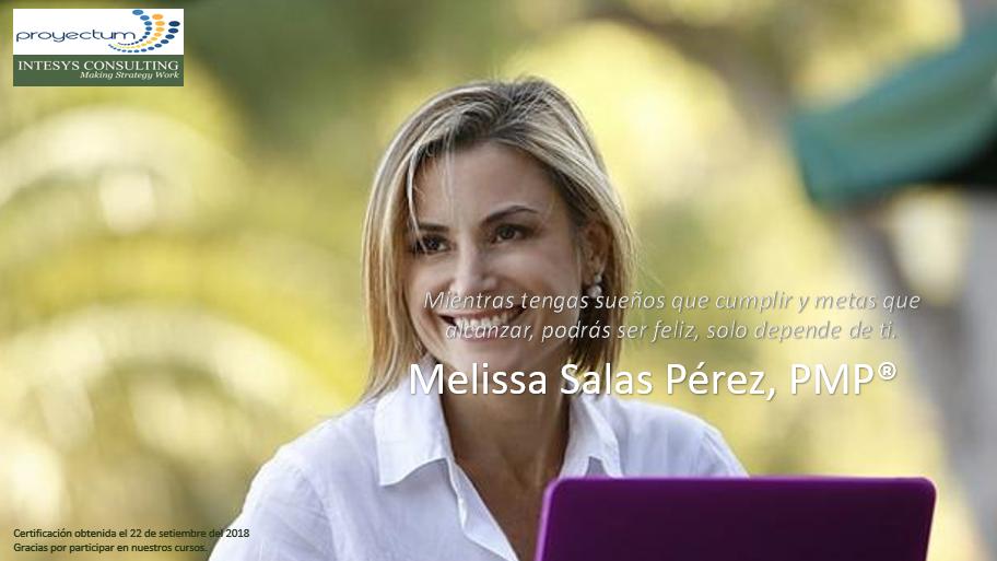 Melissa Salas Pérez, PMP®