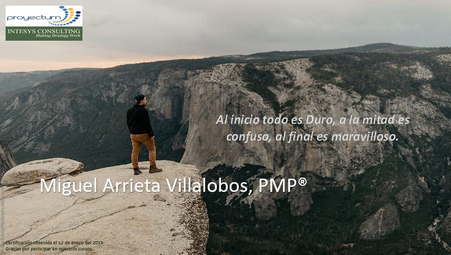 Miguel Arrieta Villalobos, PMP®