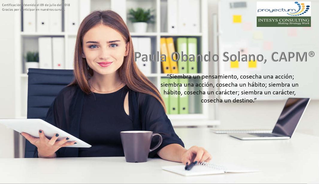 Paula Obando Solano, CAPM®