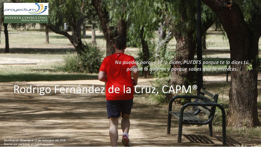 Rodrigo Fernández de la Cruz, CAPM®