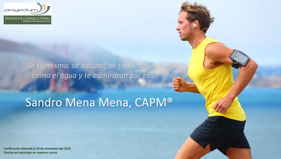 Sandro Mena Mena, CAPM®
