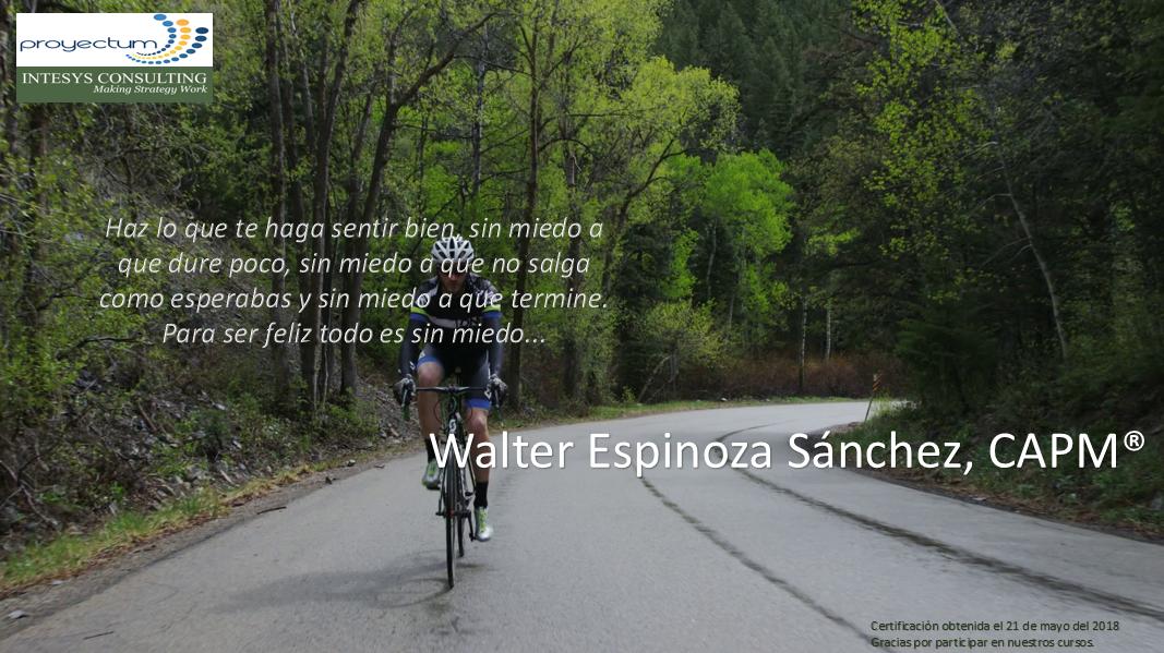 Walter Espinoza Sánchez, CAPM®